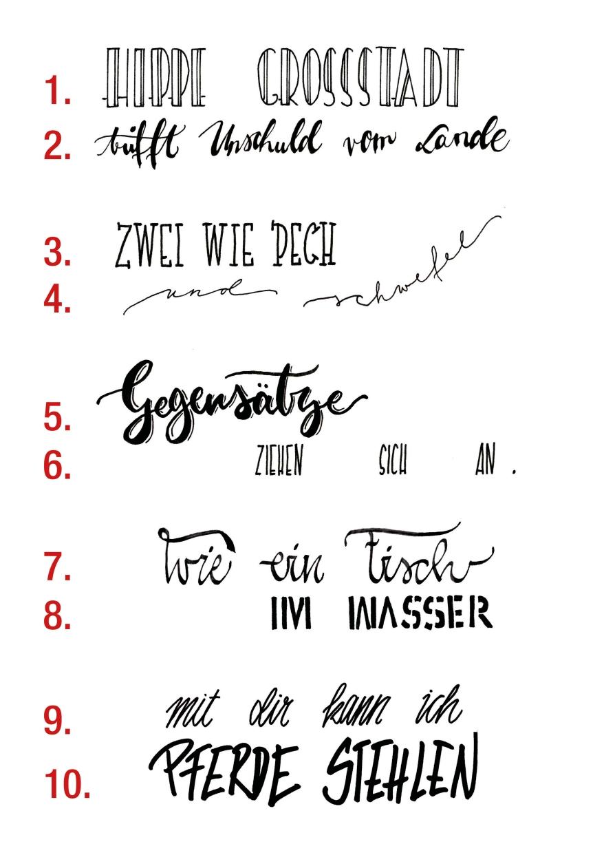 Schriftarten Ausprobieren